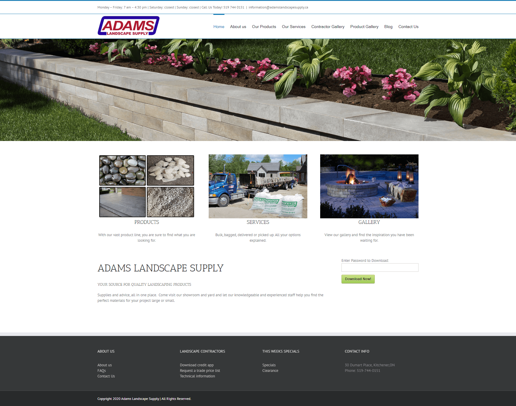 ADAMS LANDSCAPE SUPPLY